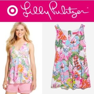 Lilly Pulitzer Target Nosey Posey Tank Top Floral